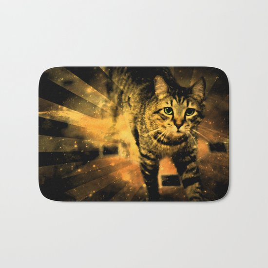 Cat Fire Of The Crossing Oblivion Bath Mat