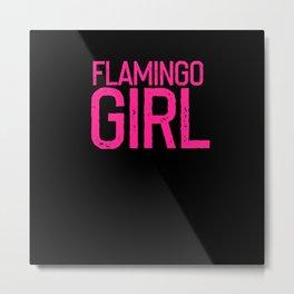Ladies Flamingo Metal Print