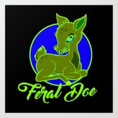 My Feral Doe Logo Art Print