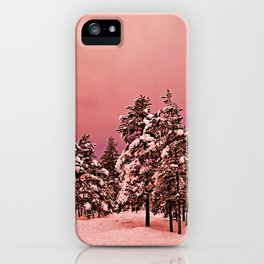 Magic of frozen forest iPhone Case