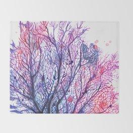 Fan Coral - Purple Throw Blanket