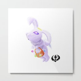 Easter Angelic Bunny Metal Print