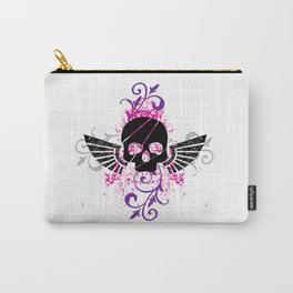 Skull and Wings Carry-All Pouch