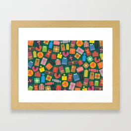 Fun Gift Box pattern Framed Art Print