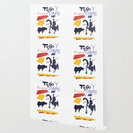 Toros Y Toreros (Bulls and Bullfighters) Artwork By Pablo Picasso T Shirt, Book Cover Wallpaper