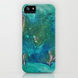 184. Ice Scours the North Caspian Sea iPhone Case
