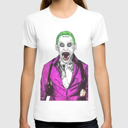 Joker  Ballpoint Pen Drawing from suicide squad T-shirt
