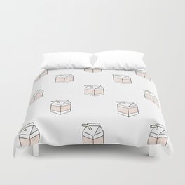 Peach Milk Cartons Duvet Cover