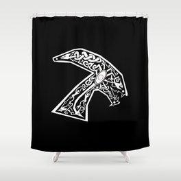 Celtic xenomorph Shower Curtain