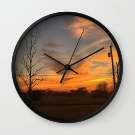 Fall Skies in South Jersey Wall Clock