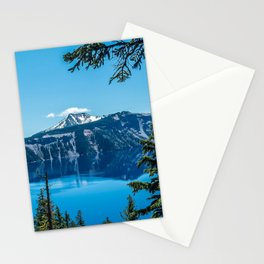 Crater Lake Views // National Park Landscape Photography Clear Deep Blue Waters Stationery Cards