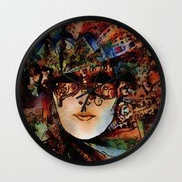 Grand Masquerade Costume Mask 01 Wall Clock