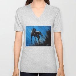 Midnight Blue Unisex V-Neck