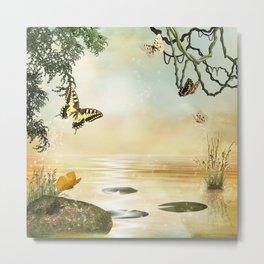 Butterfly Lake Metal Print