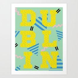80's Postmodern Dublin Travel Poster Art Print