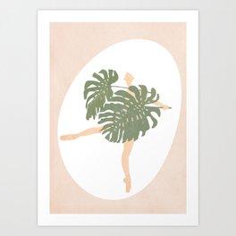 Nude Ballerina Art Print