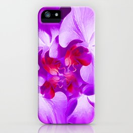 Abstract Orchid In Lavender iPhone Case