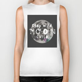 Stay wild moon child (full moon) Biker Tank