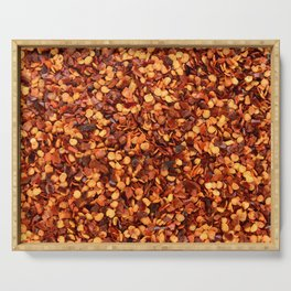 Hot and spicy crushed chilli peppers Serving Tray