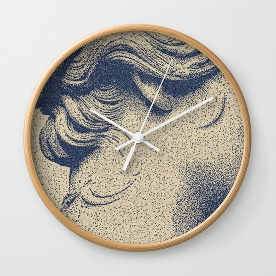 ink on paper Wall Clock