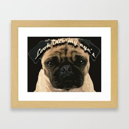 Pug is your passion and love.  Framed Art Print