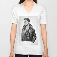 captain hook V-neck T-shirts featuring Captain Hook by Olivia Nicholls-Bates