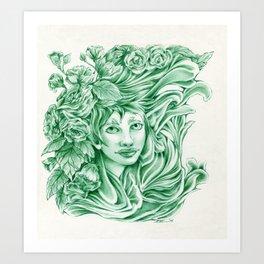 Green Elf Art Print