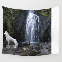 Astro the white german shepard Wall Tapestry