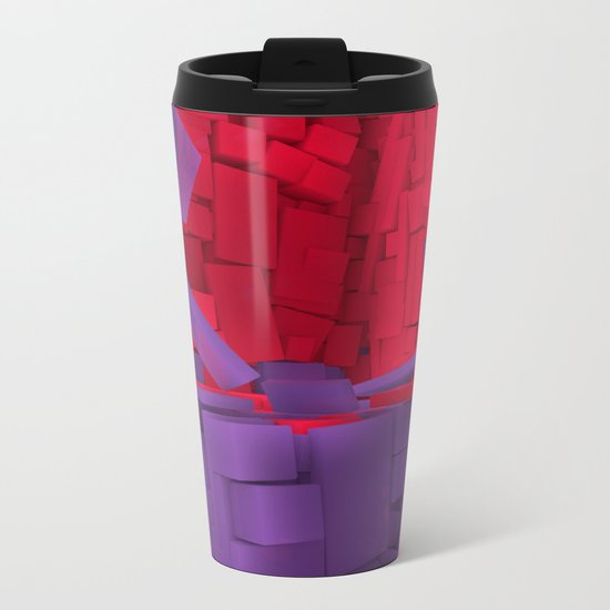Blocks II Metal Travel Mug