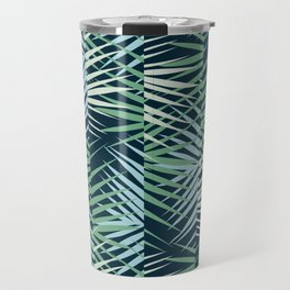 Areca Palm Leaves Stripe Travel Mug