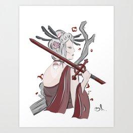 Demon Blood Geisha Art Print