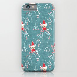 Santa Little Helper Blue #Holiday #Christmas iPhone Case