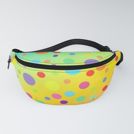Gorgeous Rainbow Gradient with Colorful Polka Dots Fanny Pack