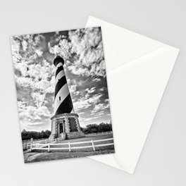 B&W - Cape Hatteras Lighthouse, Outer Banks NC Stationery Cards