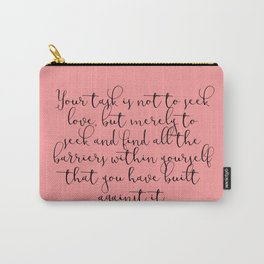 Love by Rumi Carry-All Pouch