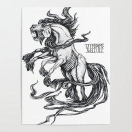 Mythological horse Sleipnir Poster