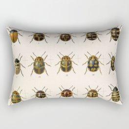Naturalist Beetles Rectangular Pillow