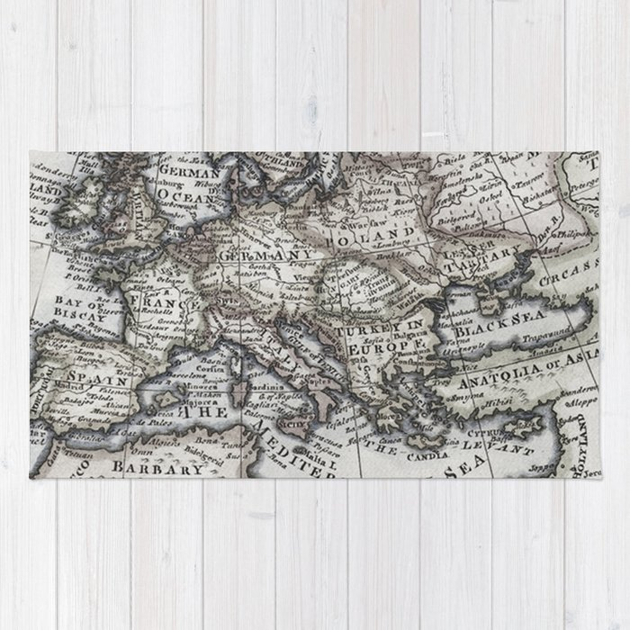 Old World Map Rug