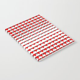 embers geometric pattern Notebook