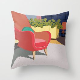 Come In And Sit Down Throw Pillow