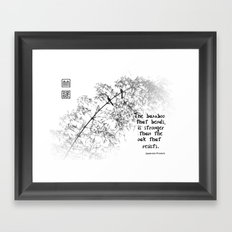 The Strength of Bamboo Framed Art Print