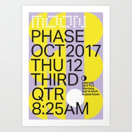 Third Quarter Moon - Oct 2017 Art Print