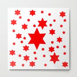 JULY 4TH  RED STARS DECORATIVE DESIGN Metal Print