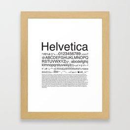 Helvetica (Black) Framed Art Print