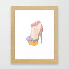Versace Bootie Framed Art Print