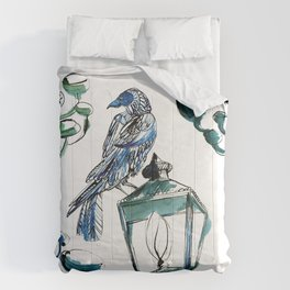Blue crow Comforters