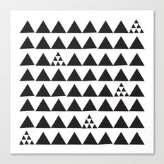 Black geometric print Canvas Print
