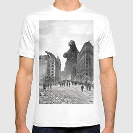 Old Time Godzilla in San Francisco T-shirt