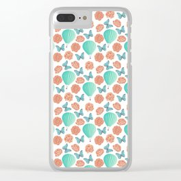 Fly Away With Me Pattern Clear iPhone Case
