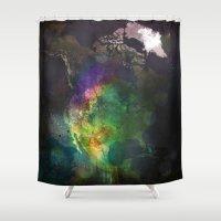 North America Shower Curtain